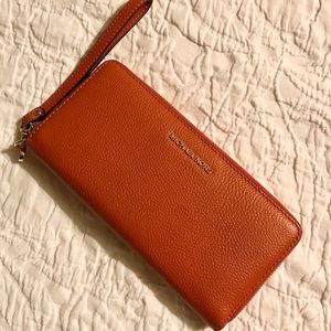 Michael Kors Orange Wrist Wallet